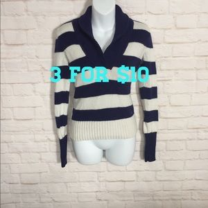 American Eagle striped sweater small